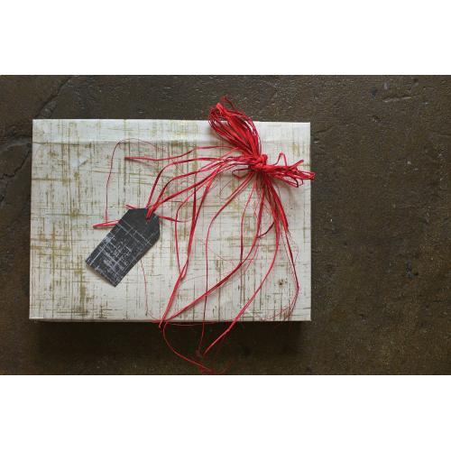 "20"" x 30"" x 3 sheets Off-White Gift Wrap (Brushstroke Option)"