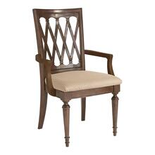 Dark Brown Cherry Meadowbrook Manor Arm Chair
