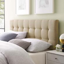 View Product - Lily King Upholstered Fabric Headboard in Beige