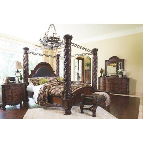 North Shore Large UPH Bedroom Bench Dark Brown