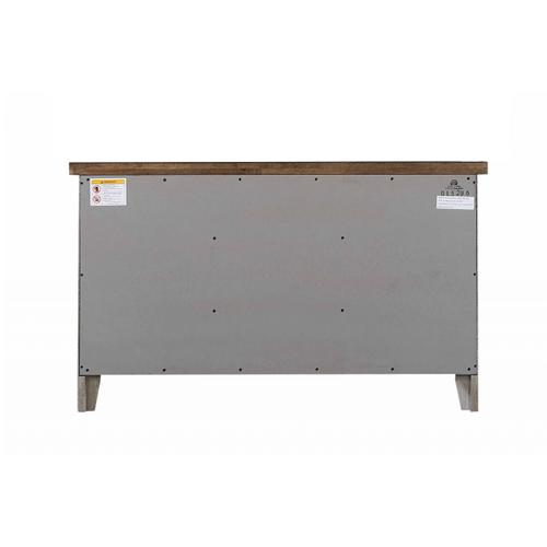 Buffet - Distressed Gray & Brown