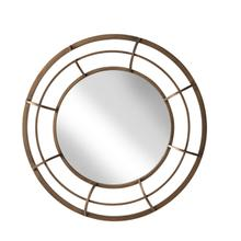 "Metal Frame 28"" Wall Mirror , Gold - Wb"