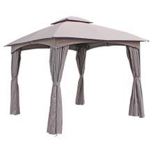 St. Kitts 3-meter Steel Dome-top Gazebo with Curtains - Dark Grey/Steel Grey