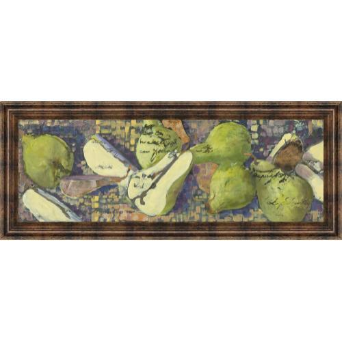 "Classy Art - ""Sparkling Pears I"" By Silvia Rutledge Framed Print Wall Art"