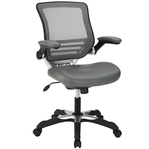 Edge Vinyl Office Chair in Gray