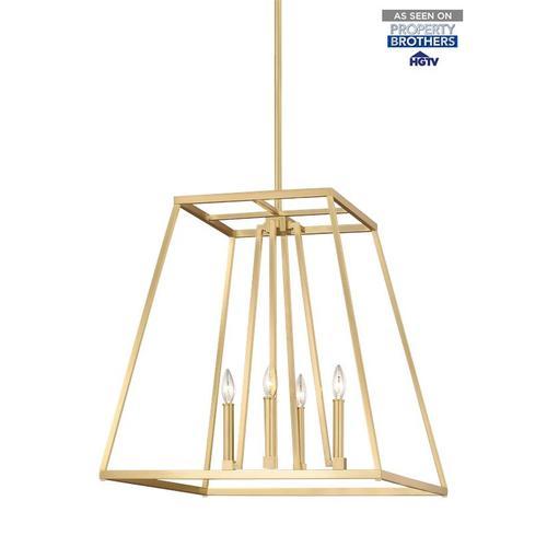 Conant Large Lantern Gilded Satin Brass