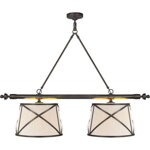 Visual Comfort CHC1481BZ-L E. F. Chapman Grosvenor 4 Light 51 inch Bronze Linear Pendant Ceiling Light