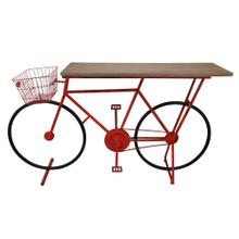 Bicycle Console Table, Red