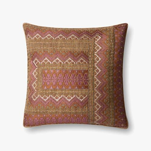 P0497 Pink / Rust Pillow