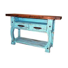 Medieval Tv Stand with Distressed Top