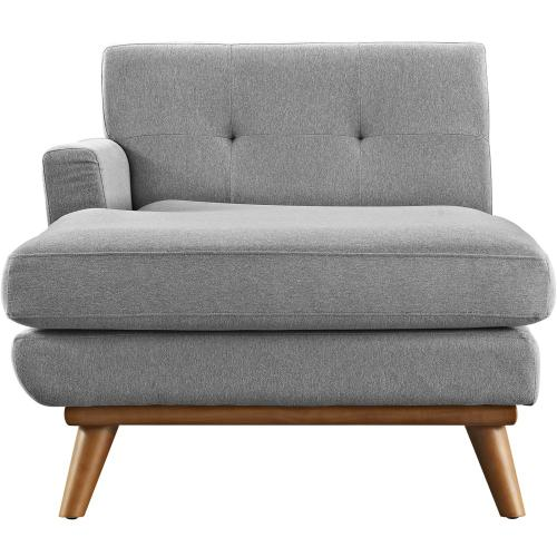 Engage Left-Facing Upholstered Fabric Chaise in Expectation Gray