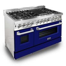 ZLINE 48 in. Professional Dual Fuel Range with Blue Matte Door (RA-BM-48)