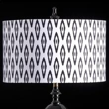 IKAT MIXOLOGY SHADE  LARGE  11in X 19in  Available in three sizes this lighting collection has a