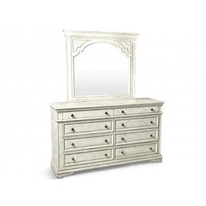 Highland Park Dresser/Mirror, Cathedral White