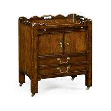 George III Style Mahogany Bedside Cabinet