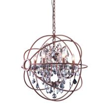 See Details - Geneva 6 light Rustic Intent Chandelier Silver Shade (Grey) Royal Cut crystal