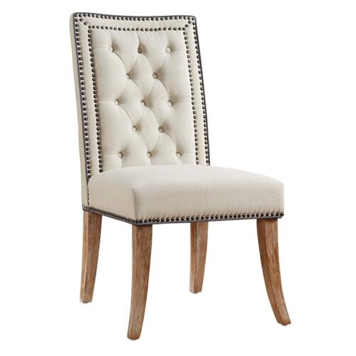 Tov Furniture - Garrett Beige Linen Dining Chair (Set of 2)