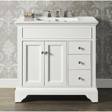"""See Details - Framingham 36"""" Vanity Drawer-right - Polar White"""