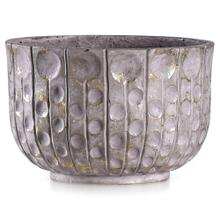 See Details - ALCAMO GREY  14in w X 9in ht X 14in d  Artative Circle Texture Eco Paper Bowl