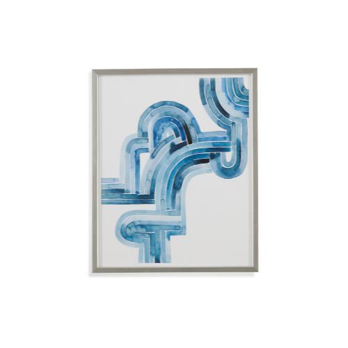 Bassett Mirror Company - Blue Braid I