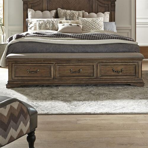 Queen Bench Storage Footboard