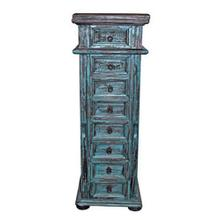 Turq. Jewelry Chest Side Door