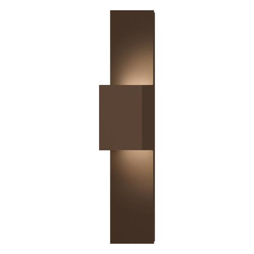 Sonneman - A Way of Light - Flat Box Up/Down LED Panel Sconce [Color/Finish=Textured Bronze]