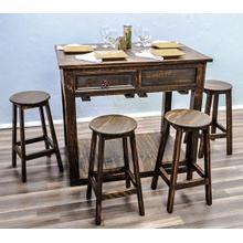 See Details - Medium Wax Island W/stools