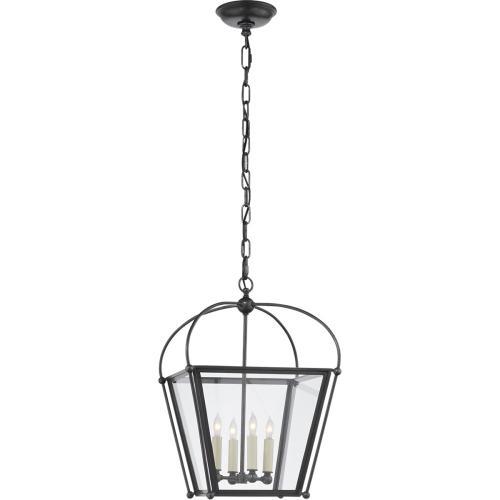 Visual Comfort CHC3438BZ-CG E. F. Chapman Plantation 4 Light 14 inch Bronze Foyer Lantern Ceiling Light, E.F. Chapman, Small, Clear Glass