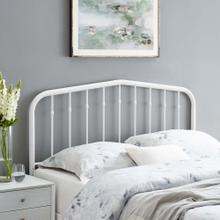 Lennon Queen Metal Headboard in White
