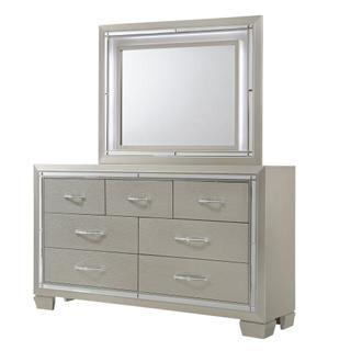 See Details - Platinum Dresser & Mirror Set