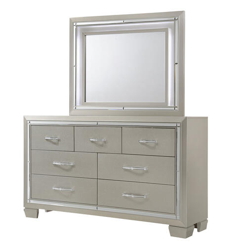 Platinum Dresser & Mirror Set