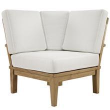 See Details - Marina Outdoor Patio Teak Corner Sofa in Natural White