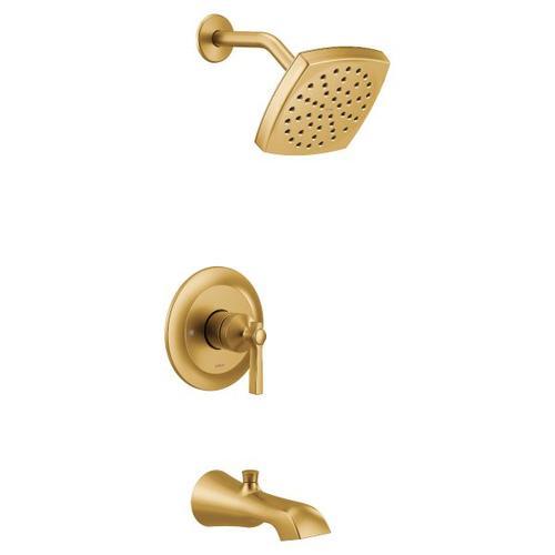 Flara brushed gold m-core 3-series tub/shower