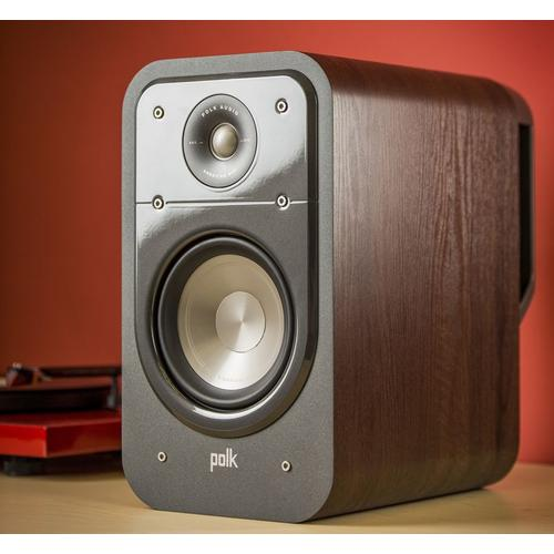 American HiFi Home Theater Bookshelf Speaker in Classic Brown Walnut