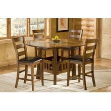 NEW CASTLE DROP LEAF TABLE W/ TILE LAZY SUSAN CENTER