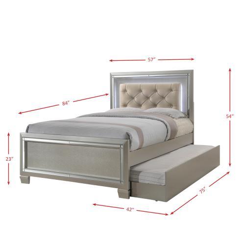 Platinum Youth Full Platform Bed w/ Trundle