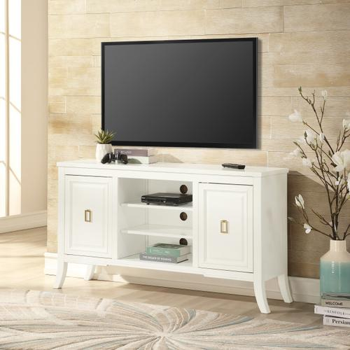 Modern 2 Door TV Console in White