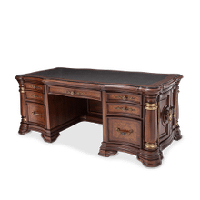 Desk w/Glass Top (4 pc)