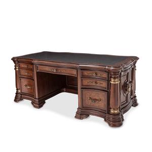 Desk w/Glass Top (4 pc)