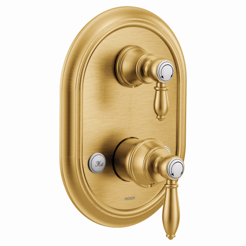 Weymouth brushed gold m-core 3-series with integrated transfer valve trim