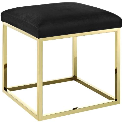 Modway - Anticipate Ottoman in Gold Black