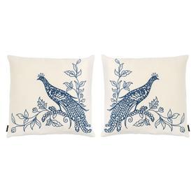 Loving Pair Pillow - Beige / Blue