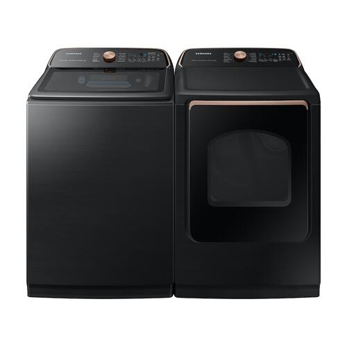 Gallery - 5.5 cu. ft. Extra-Large Capacity Smart Top Load Washer with Auto Dispense System in Brushed Black