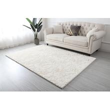 Metallica Area Rug Collection - 5' x 7' / White / Scattered