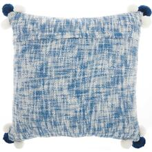 "Trendy, Hip, New-age Ns529 Navy/white 20"" X 20"" Throw Pillow"
