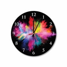 Color Splash Round Acrylic Wall Clock