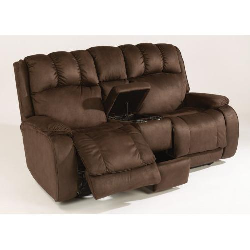 Product Image - Huron Fabric Power Reclining Loveseat with Console
