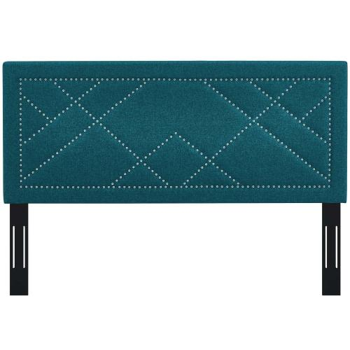Modway - Reese Nailhead King and California King Upholstered Linen Fabric Headboard in Teal