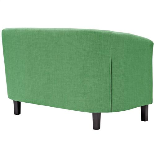 Prospect 3 Piece Upholstered Fabric Loveseat and Armchair Set in Green